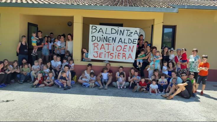 Nafarroako haur eskolen protestarekin bat egin du Ultzamako Xinbili Xanbalak