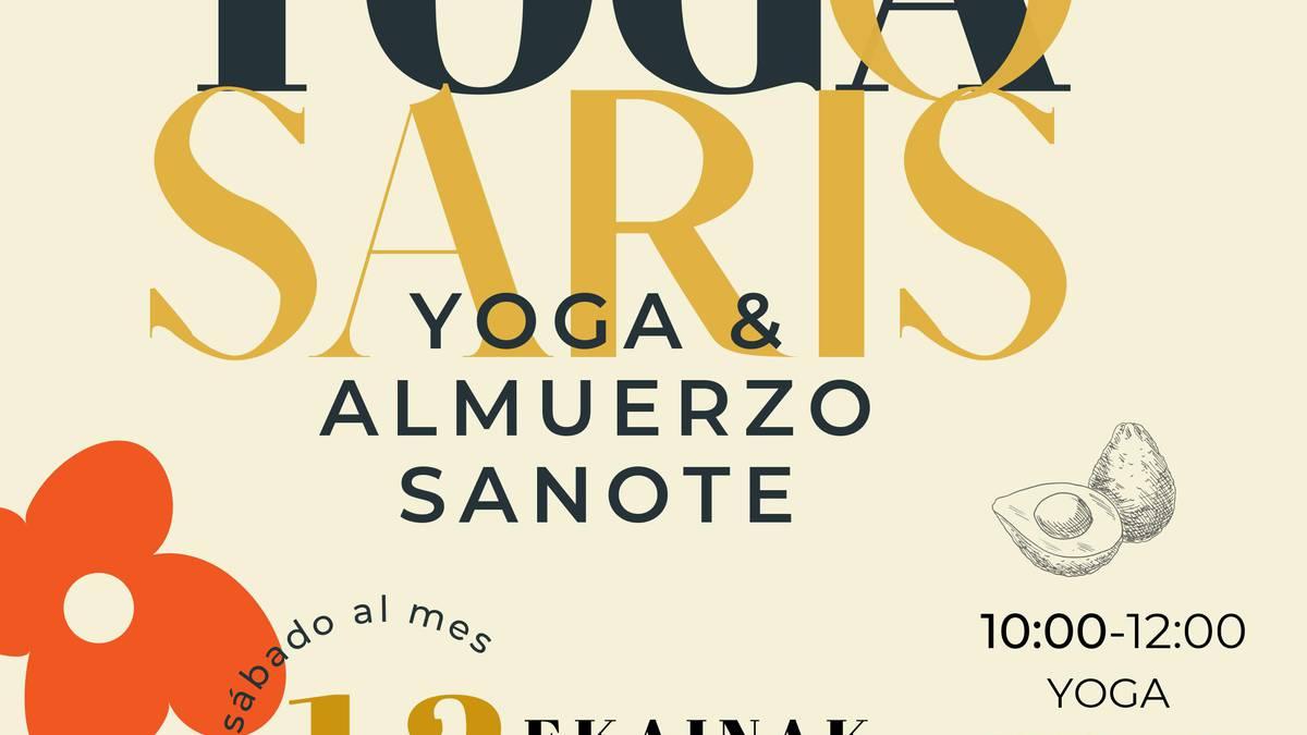 Yoga saioa eta gosari osasuntsua, Igoako 'Caballos del bosque' gunean