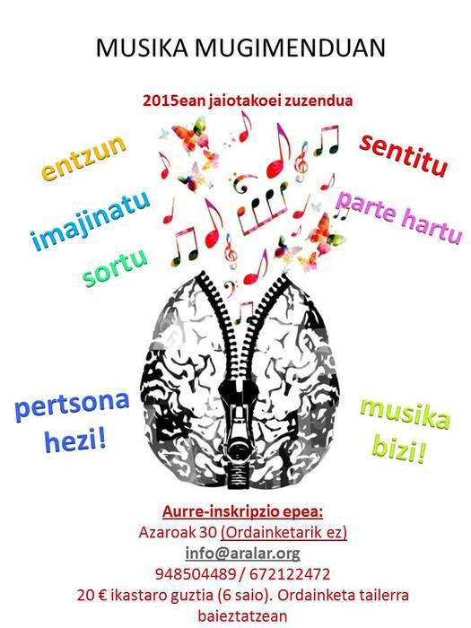 Aralar Musika Eskolan izena emateko epea ixtear da