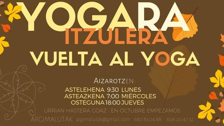 Yoga ikastaroen ordutegia, Aizarotzen