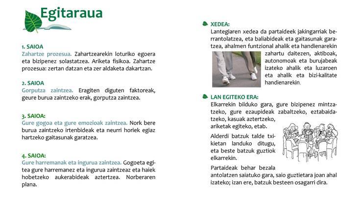 Osasunez zahartzeari buruzko lantegia, Jauntsaratsen