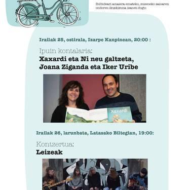 Joana Ziganda eta Iker Uriberen ipuin kontaketa
