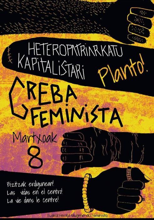 M8-ko greba prestatzeko asanblada deitu du Basaburuko Bilgune Feministak