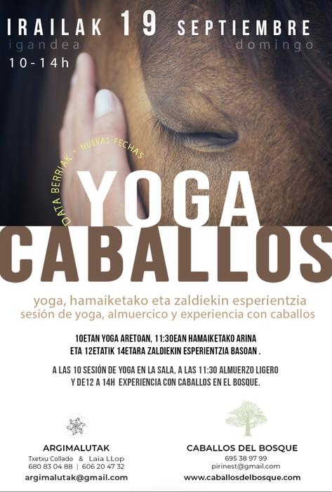 Saioa, yoga eta zaldiekin