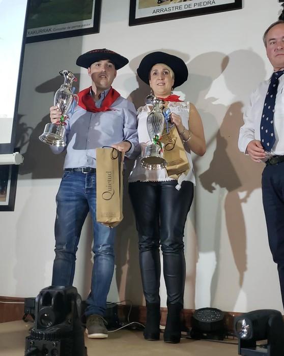 Timoteo Etxeberriak, Gelbentzukoa, eta Jaione Otxandorenak irabazi zuten Argentinako munduko mus txapelketa
