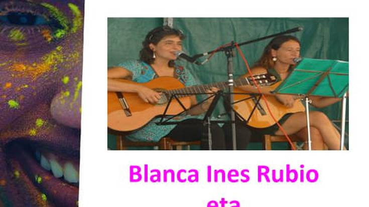 """""""aBaLnTXA"""" (Blanca Ines Rubio eta Txari  Eleta) musikariekin kantaldia"""