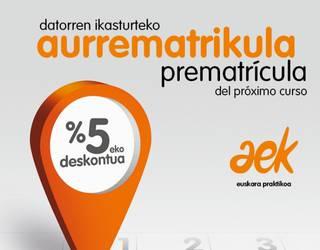 Zabalik da AEKren matrikulazio kanpaina